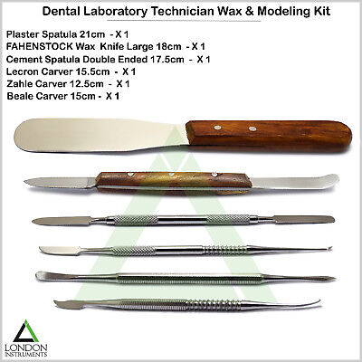 Dental Wax Modeling Carvers Mixing Spatula Cutting Knives Laboratory Instruments