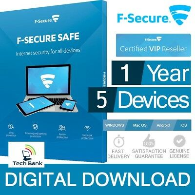 ⭐ F-Secure Safe 2019 Internet Security ⭐ 12 months/5 devices ⭐
