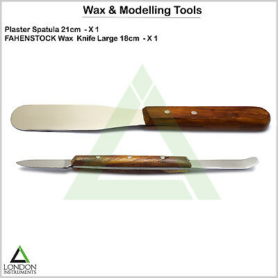 Dental Plaster Mixing Spatula Wax & Modelling Wood Handle Laboratory Instruments