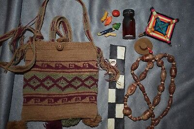 "Orig $399. Peru Shamans Bag W/tools 16"" Prov"