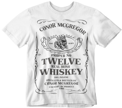b4dce3ff Conor Mcgregor T-shirt Proper Twelve Whiskey Tee Uf Mma Gym Sports Boxing  whites