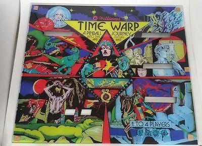 Flipper Backglass Williams Time Warp reproduction #pinball