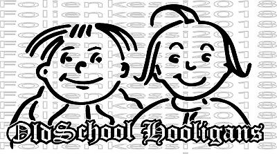 Aufkleber Max & Moritz Oldschool Hooligans - Retro Sticker Comic Kult / MM001