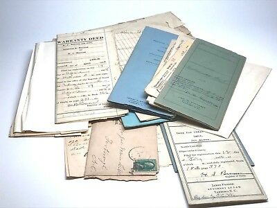 Eupherma Big Lot Deeds Letters Legal Postcards And More Early 1900's