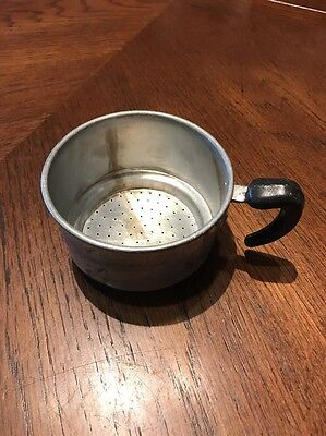 Aluminum handled cup strainer Made in Italy Vintage