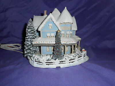 2000 Thomas Kinkade Hawthorne Village Holiday Bed And Breakfast Lighted House