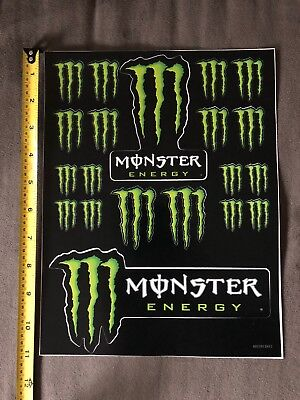 Monster Energy Drink Sponsor Logo Decal Sticker Sheet Kit