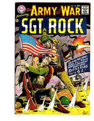 OUR ARMY AT WAR #185 in VF- grade a 1967 DC WAR comic w/ SGT ROCK & Easy Co.