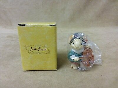 """Vintage Ganz Little Cheesers """"Hickory Playing Cello""""  #05315 New In Box 1991"""