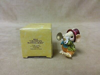 """Vintage Ganz Little Cheesers """"Grandpa Blowing Horn""""  #05311 New In Box 1991"""