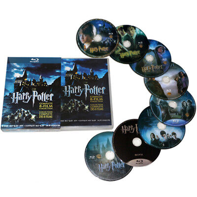 Movie Harry Potter 1-8 Complete Movie HD DVD Collection Films Set Gift