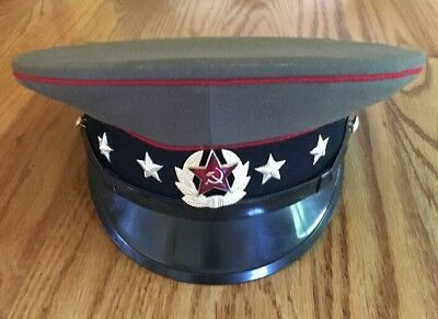 Soviet Russian Army Cap Hat Size 57 (US 7 1/8) - RARE