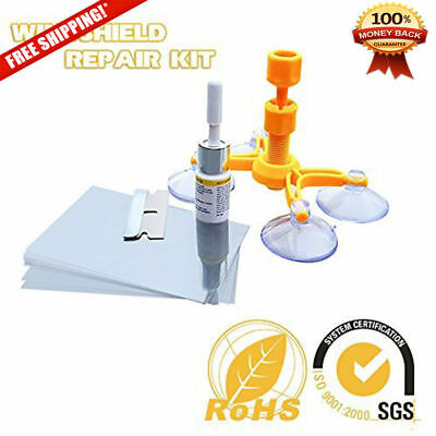 Glass Windshield Repair Kit to Fix Car DIY Cracks Chips Bull's Eyes and Starts