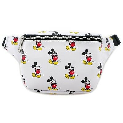 Loungefly - Disney MICKEY MOUSE ALL OVER PRINT Cosplay Faux Leather FANNY PACK!