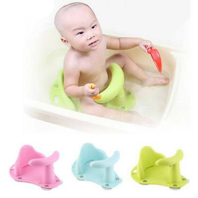 Safe Baby Bath Tub Ring Seat Support Infant Child Toddler Kids Anti Slip Chair~
