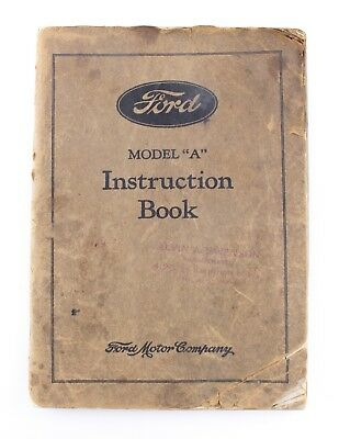 Early Original 1931 Ford Model A Instruction Book For Tool Kit Judging Rare