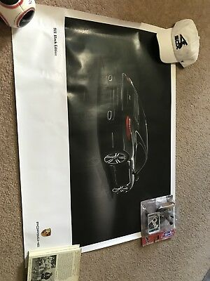 2011 Porsche 911 Coupe Black Edition Showroom Advertising Sales Poster
