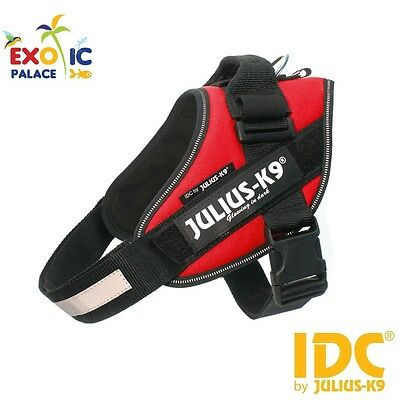 Julius-K9 Idc Powerharness Red Harness Red For Dog Nylon Resistant Dog
