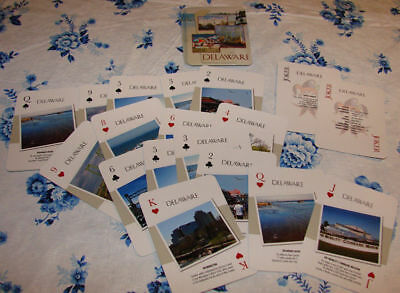 Delaware Playing Cards Poker Deck Souvenir Gift Best Seller RARE Nice No Tax!!!