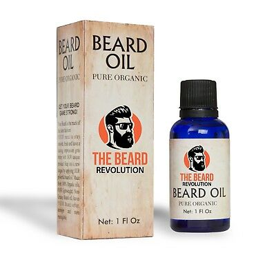 The Beard Revolution Pure Organic Beard Oil | Unscented With Vitamins and Herbs
