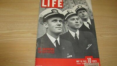 1943 Life Magazine  May 10  Pt Boat Skippers  High Grade Lowest Price On Ebay