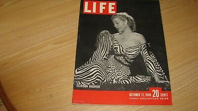 1948 Life Magazine October 11 Televsion Discovery High Grade Lowest Price - Ebay