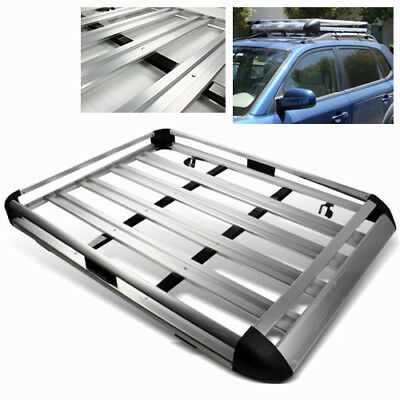 """63"""" Aluminum Silver Roof Mounted Luggage Rack/Cargo Carrier Hold Basket SUV/Van"""