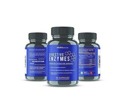 Digestive Enzymes Probiotics Supplement Premium All Natural Stop Bloating