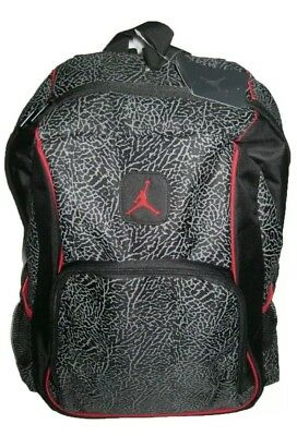 9d8ae0fe0c87 JORDAN ELEPHANT 2-STRAP Backpack - black red one size 18.5 x 14 x 5 ...