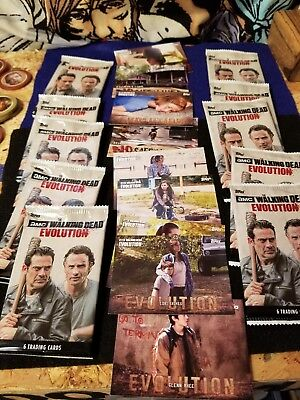 The Walking Dead Evolution 6 Trading Cards Per Pack (10) Packs.new