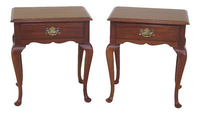 F45946EC: Pair HENKEL HARRIS Cherry 1 Drawer Nightstands