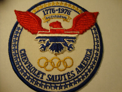 Vintage Bicentennial Chevrolet Salutes America Embroidered Patch
