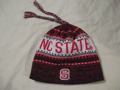 4bf80bb41a5a3e NC State Wolfpack Beanie Hat Stocking Cap Men's One Size Adidas New W/Tags  NCAA