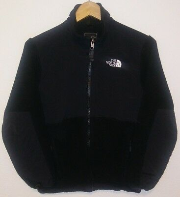 Kid's Girl's THE NORTH FACE Fleece Jacket Full Zip Up Sweatshirt Black L Large