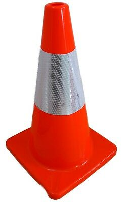 "18"" Orange Road Safety Cones 3M Reflective Collar Traffic cone 6 PACK PCS"