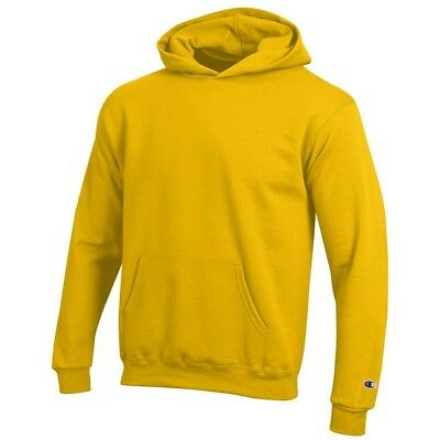 Champion Youth (Yellow) Powerblend Sweat Pullover Hoodie Fleece (XS-XL)