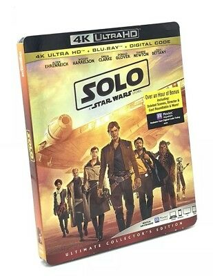 Solo: A Star Wars Story (4K UHD+Blu-ray+Digital Code, 2018) NEW w/ Slipcover