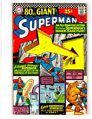 SUPERMAN #187 in FN/VF condition a 1966 Silver Age DC comic 80 pg GIANT G-23