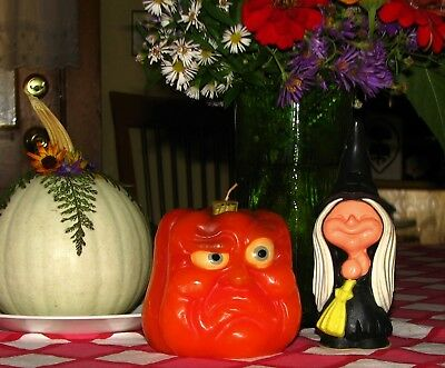 Vintage BURLEY Pumpkin Candle and Airwick Witch...Halloween is Near