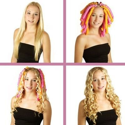40PCS 50cm Magic Hair Curlers Curl Formers Spiral Ringlets Leverage Rollers Tool