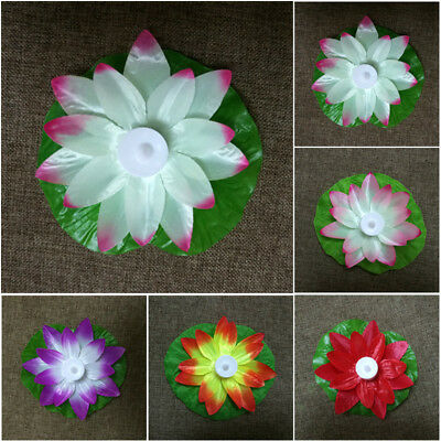 Floating Wishing Light LED Lamps On Water Colorful 17cm Lotus Festival Lanterns