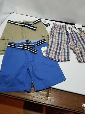 Boy's 4T Shorts 3 Piece Lot new nwt Chaps Carters 4 t Ships Free