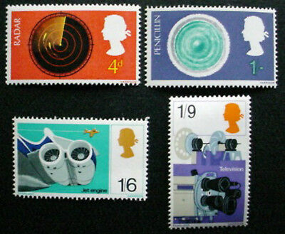 Great Britain 1967: British Discovery & Inventions: Set Of 4 Mnh Stamps