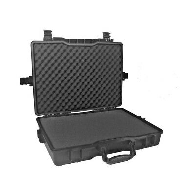 ATTACHE CASE MALLETTE PLATE ETANCHE AVEC MOUSSES PREDECOUPEES. 485x350x115mm