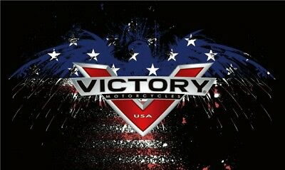 VICTORY MOTORCYCLE SPIRIT STARS LOGO  3' x 5' FLAG/BANNER-$1 SHIPPING