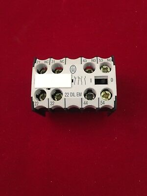 22 DIL EM Moeller Auxiliary Contact Block