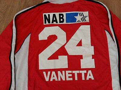 Aarau Switzerland #24 Venetta rare match worn signed shirt size XL