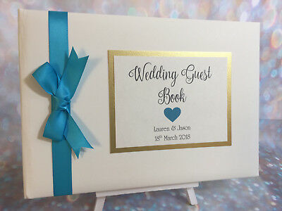 PERSONALISED HEART WEDDING GUEST BOOK Anniversary / Engagement / Birthday