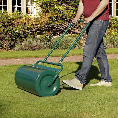 48 Litre Heavy Duty Outdoor Garden Grass Lawn Barrel Roller Fill Sand/Water Wido