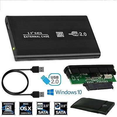 External 2.5? HDD Enclosure USB SATA Hard Drive Black Caddy Case for Laptop PC